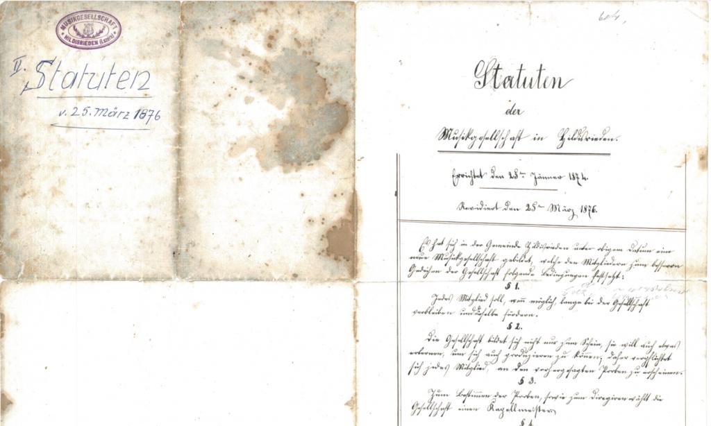 1874 – Statuten